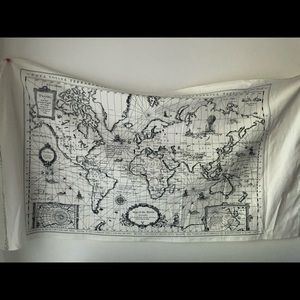"""Vintage hand draw world map tapestry 50""""*28"""" uo"""